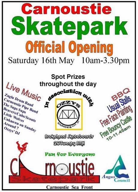 Carnoustie Skatepark opening flyer