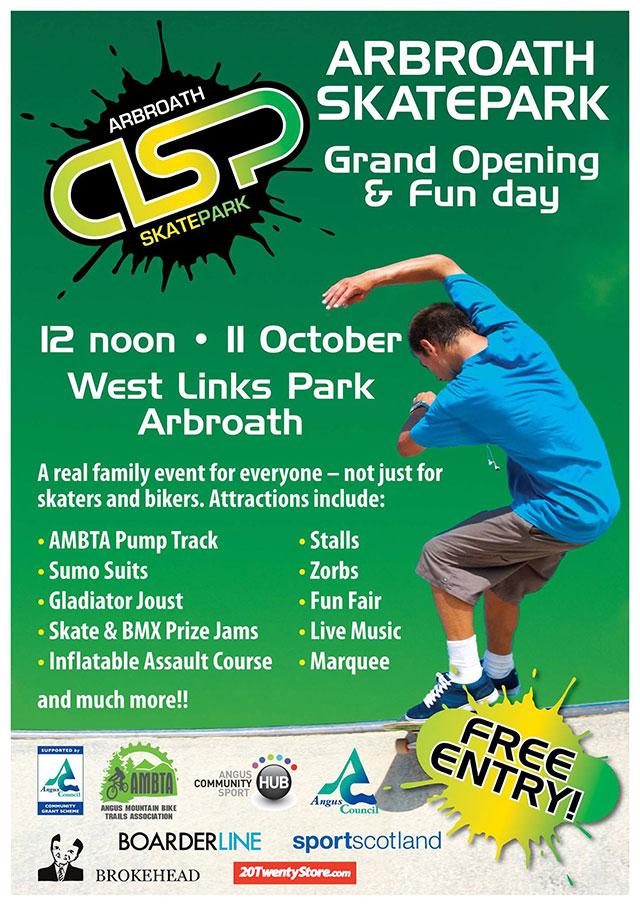 Arbroath Skatepark Grand Opening poster