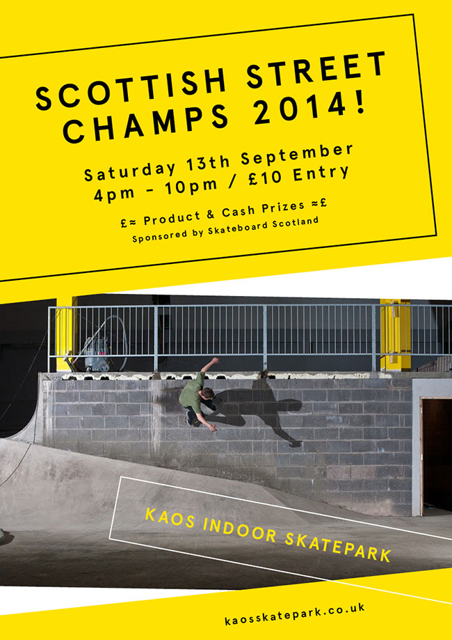 Scottish Street Champs 2014 Poster