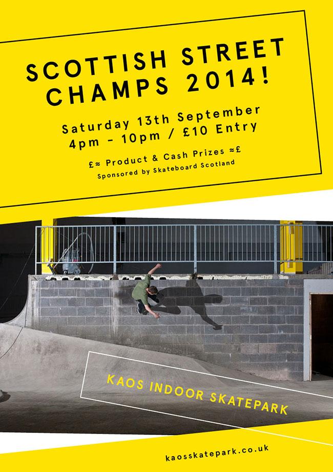 Scottish Street Champs 2014 Poster
