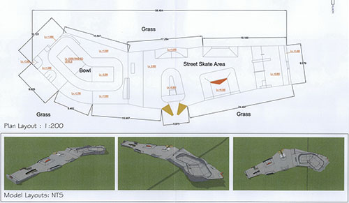 Newport Skatepark plan